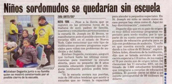 Article in El Diario from March 17, 2011