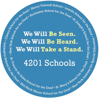 4201 Schools Association Podium Sign