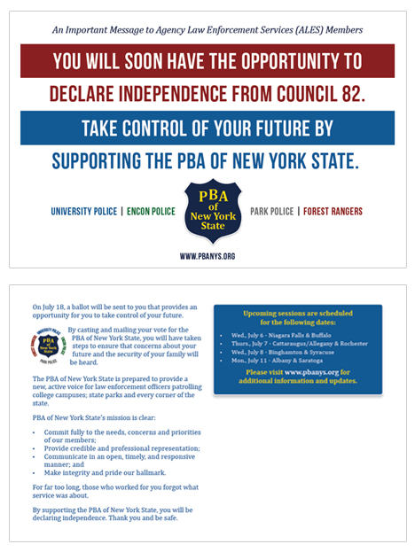 PBA of New York State Postcards